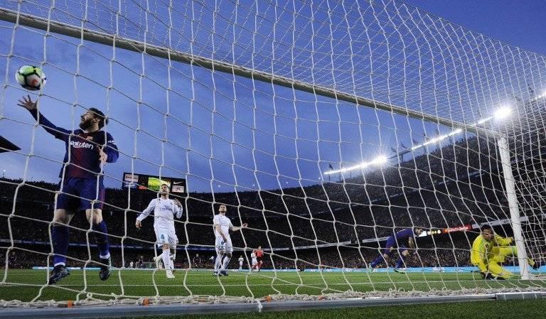 Una imagen del gol de Suárez