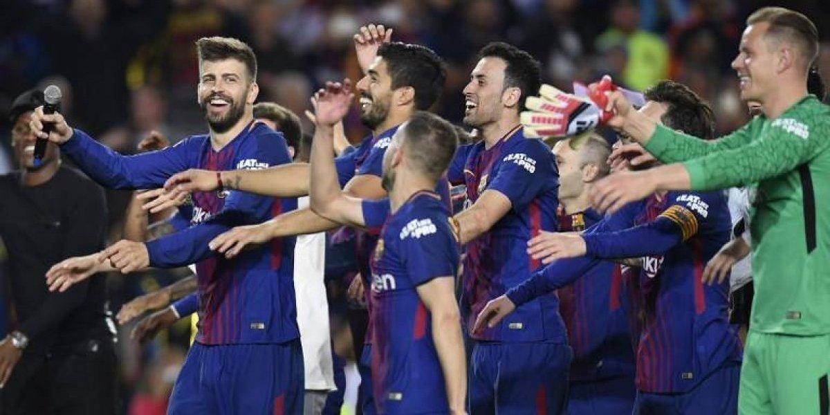 Como el Madrid no quiso, cuerpo técnico del Barcelona le hace pasillo a sus jugadores