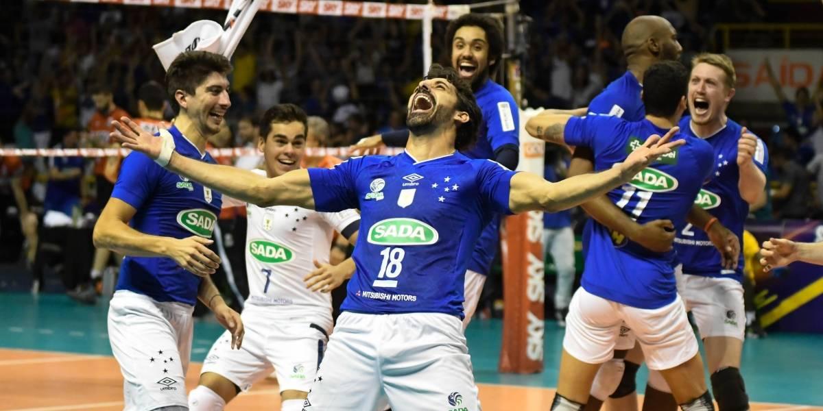 Em duelo emocionante, Cruzeiro bate o Sesi e conquista o hexa da Superliga