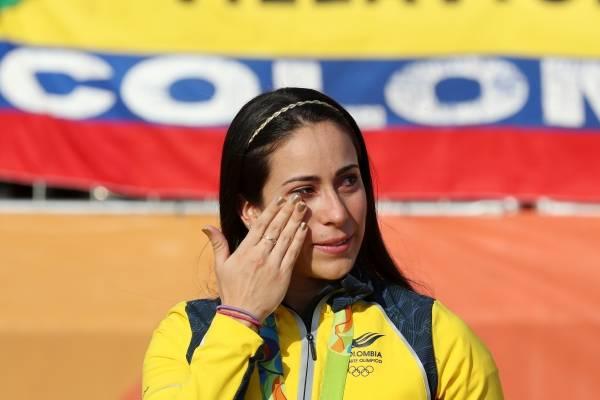 Caída de Mariana Pajón en Copa del Mundo de BMX