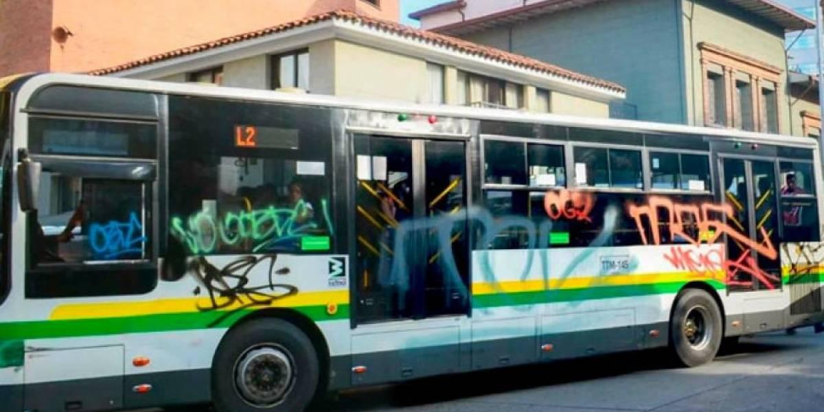 Marcha de la Marihuana en Medellín terminó con un bus rayado y robos a establecimientos comerciales