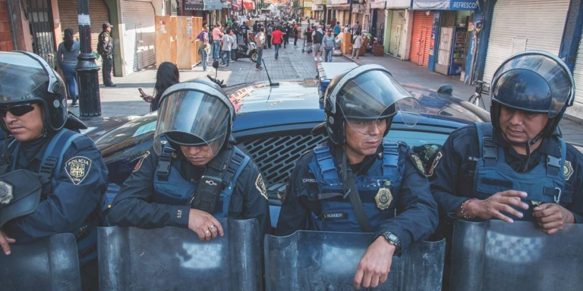 Agreden a cinco policías cada 24 horas en CDMX