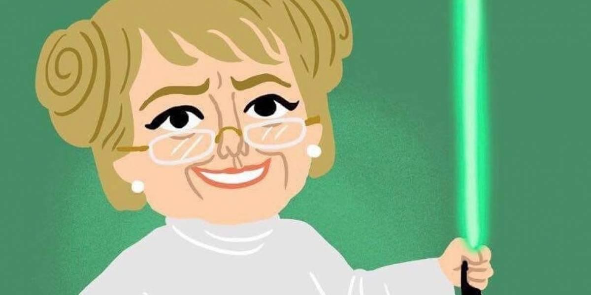 Ex Presidenta Bachelet celebró el día de Star Wars defendiendo su legado