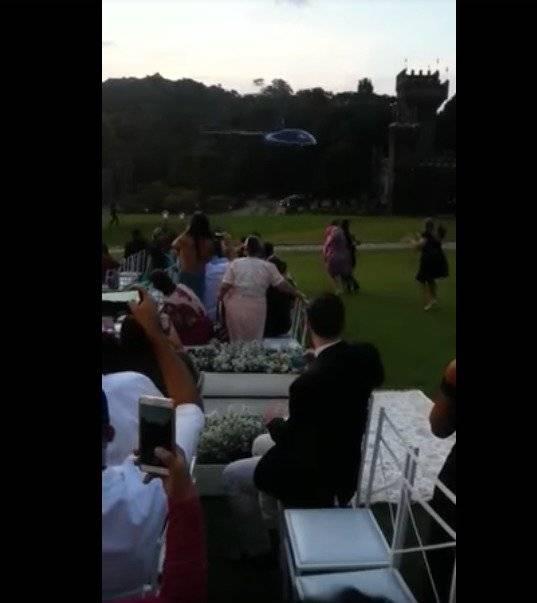 Captura Novia se estrella en helicóptero