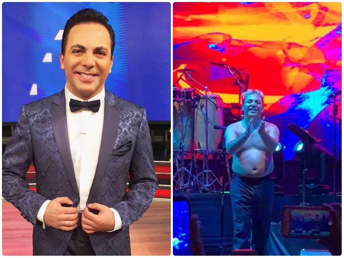 ¿Que le 'panzó'? Cristian Castro presume sus kilos de más