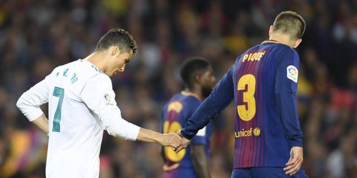Cristiano Ronaldo enciende las alarmas, deja el partido tras incidente con Piqué
