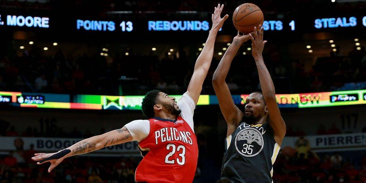 Kevin Durant conduce nueva victoria de Warriors sobre Pelicans