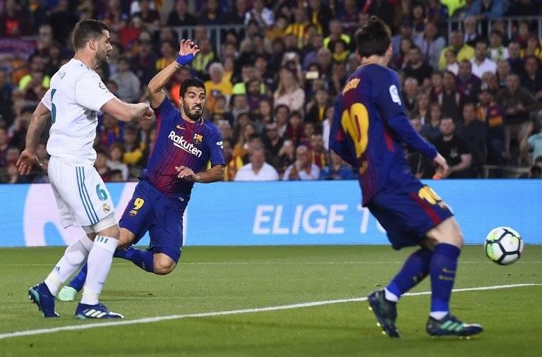 Gol de Luis Suárez contra el Real Madrid