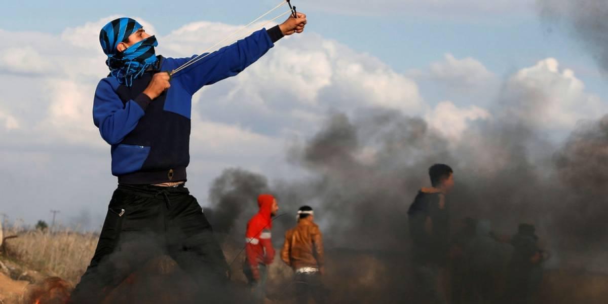 Video: Israel ataca con drones y Palestina se defiende con piedras