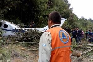 accidente de avioneta en Totonicapán