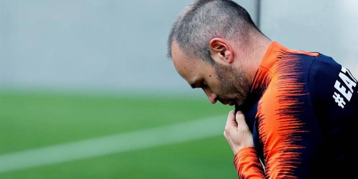 Andrés Iniesta no jugará con el Chongquing Dangdai Lifan de China