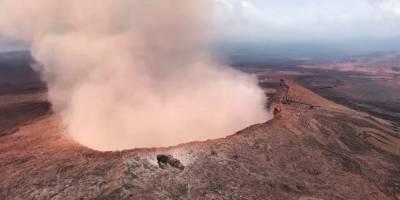 El volcán en erupción de Kilauea en Hawai ha destruido hogares y forzado las evacuaciones de más de mil personas. Fotografía del sábado, 5 de mayo de 2018. (Representante de EE.UU. Tusli Gabbard / Guardia Nacional a través de AP)