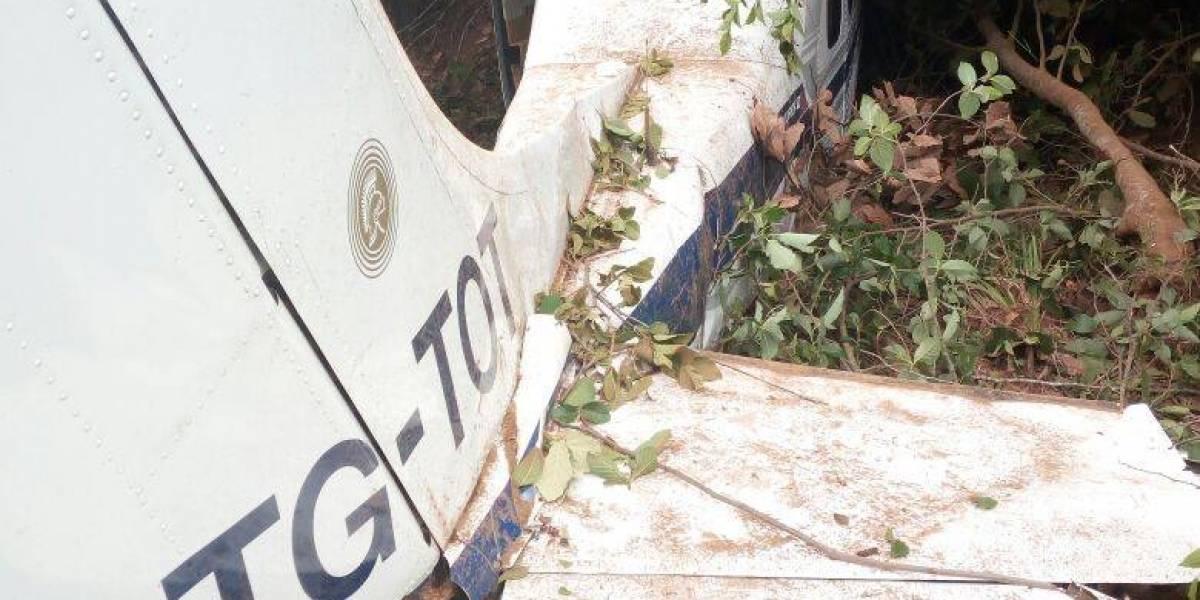 Dos heridos tras accidente aéreo en Totonicapán