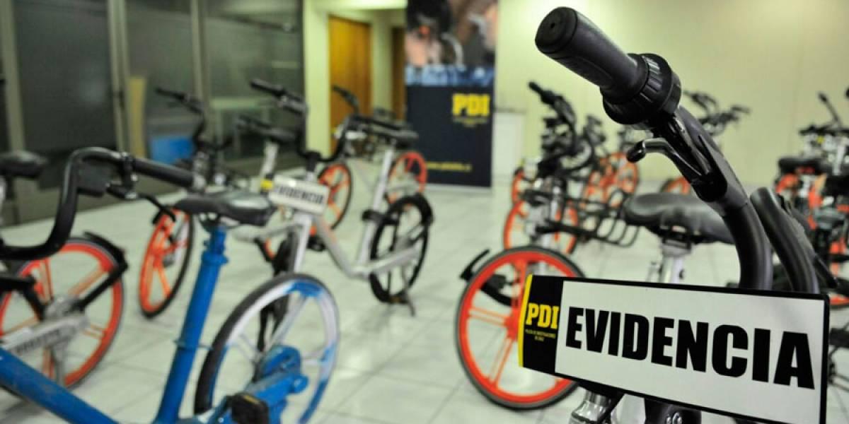 Fotos: Así quedaron las 61 bicicletas Mobike robadas en Santiago