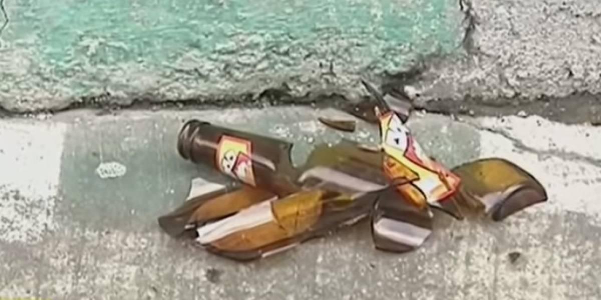 En enfrentamiento con vidrios terminó una fiesta de jóvenes en Cali