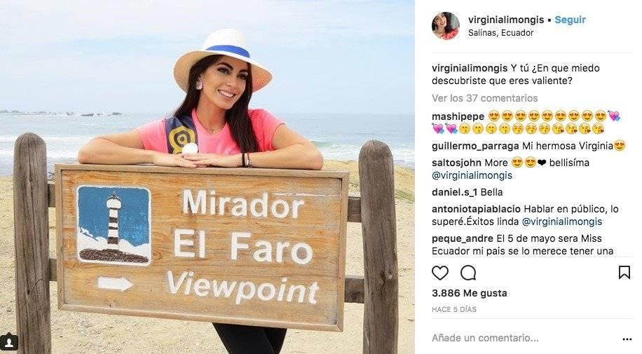Virginia Limongi, Miss Ecuador Instagram