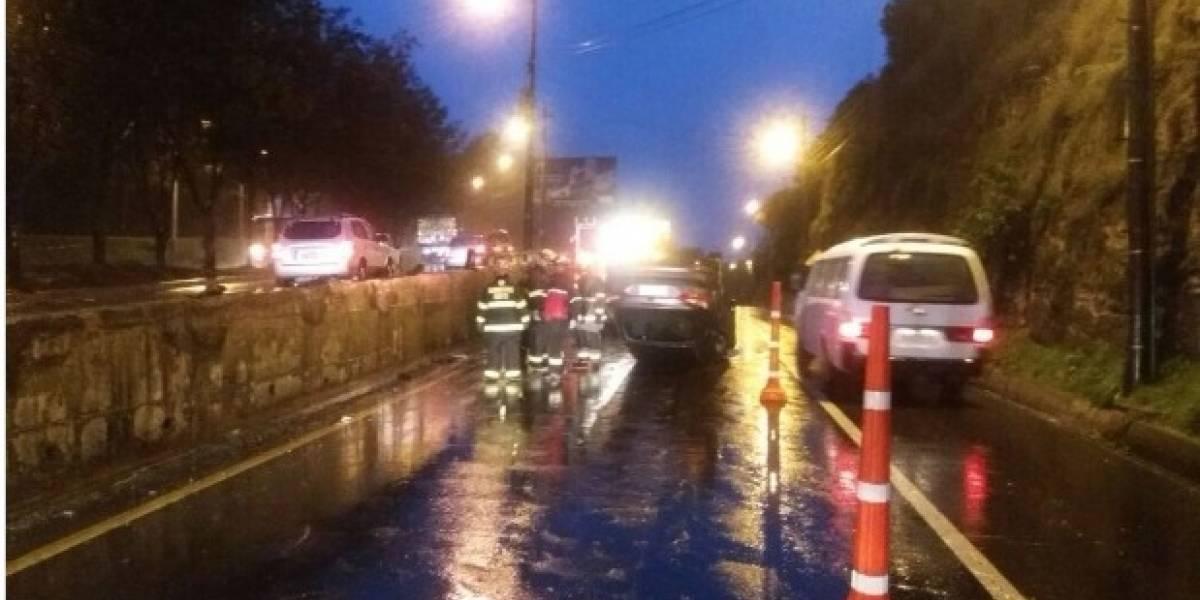 Quito: accidente de tránsito en la Simón Bolívar