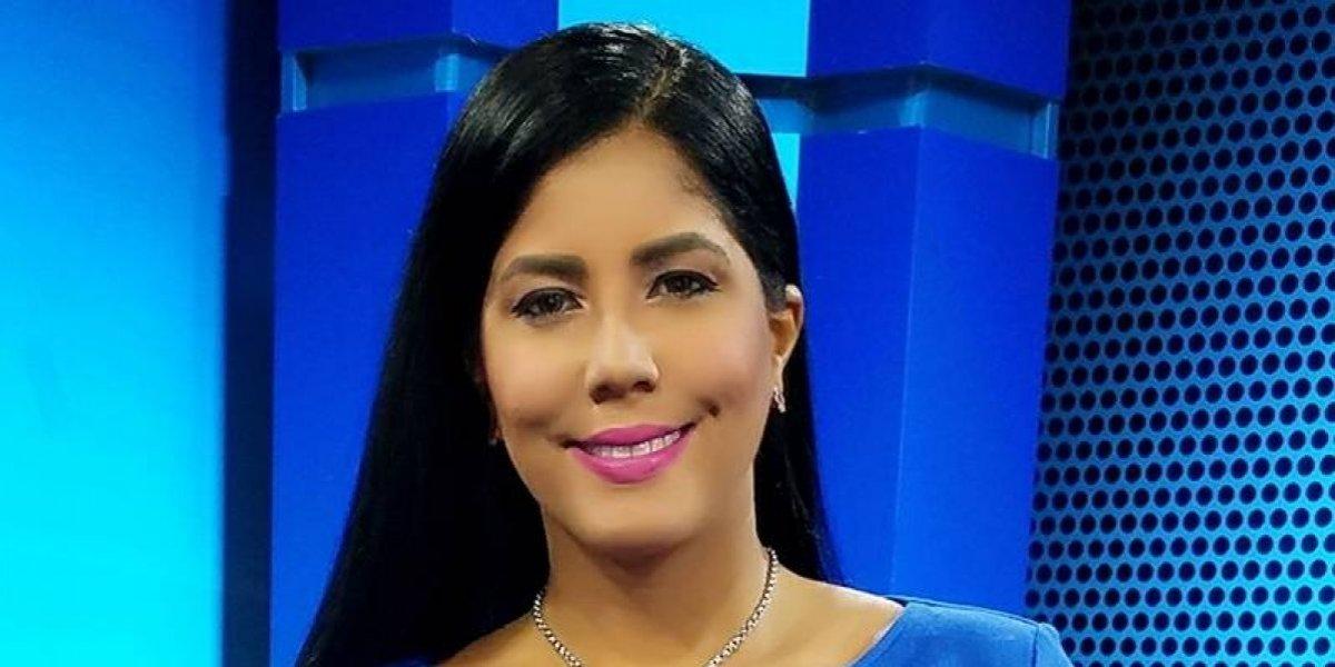 Cynthia Salazar en el horario estelar del noticiario Telefuturo