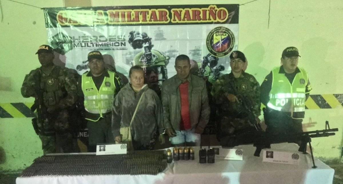 Detienen dos personas con arsenal de guerra pertenciente a Guacho Ejercito de Colombia