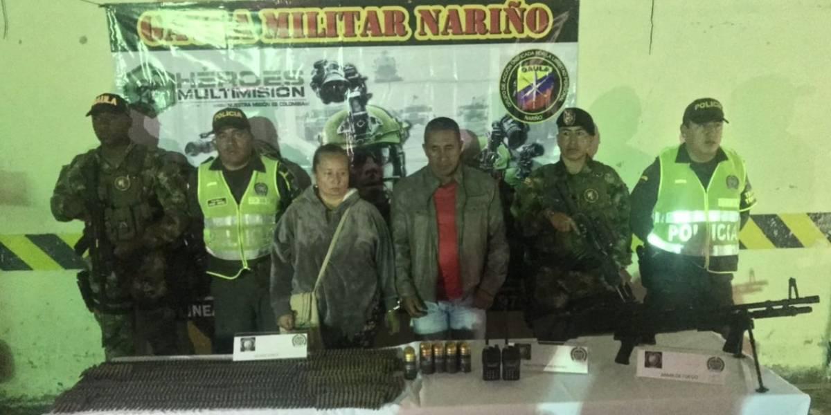 Colombia: Detienen a dos sujetos con arsenal de guerra perteneciente a 'Guacho'
