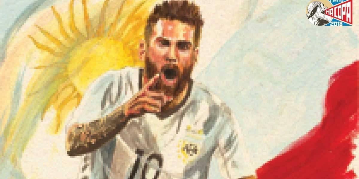 Uni-vos a Messi, Argentina; baixe pôster