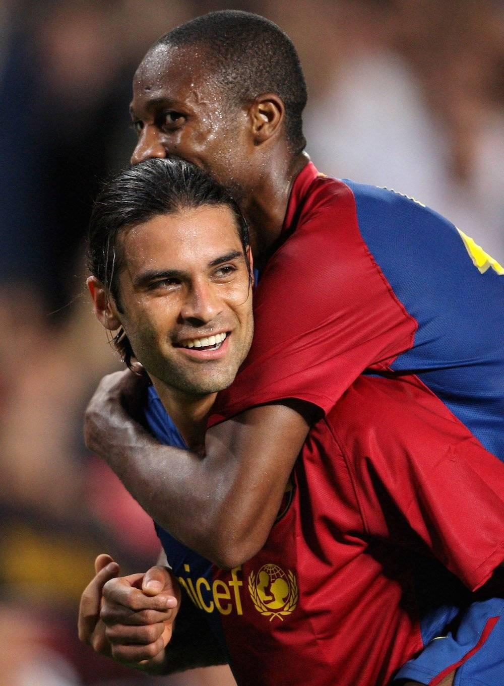 Rafael Marquez: 1 Liga de Francia con el AS Mónaco; 4 Ligas de España con Barcelona (2005, 2006, 2009 y 2010) / Getty Images