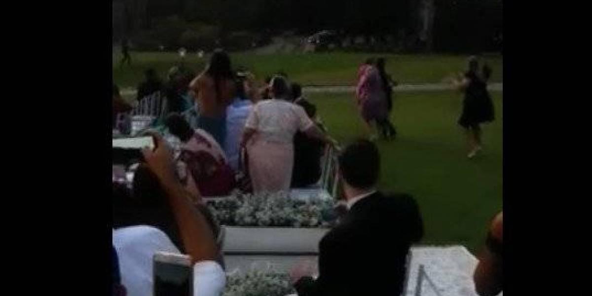 VIDEO. Novia hace llegada en helicóptero que se estrelló en jardín del evento