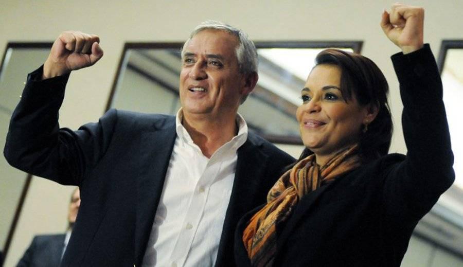 """Otto Pérez Molina y Roxana Baldetti, sospechosos en el caso """"La Línea""""."""