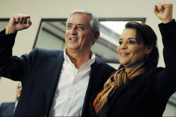 Otto Pérez Molina y Roxana Baldetti