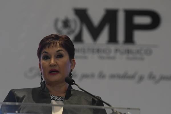 Thelma Aldana durante informe de labores