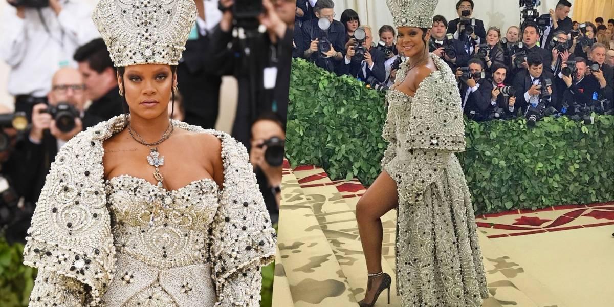 El polémico look de Rihanna inspirado en el Papa para la MET Gala
