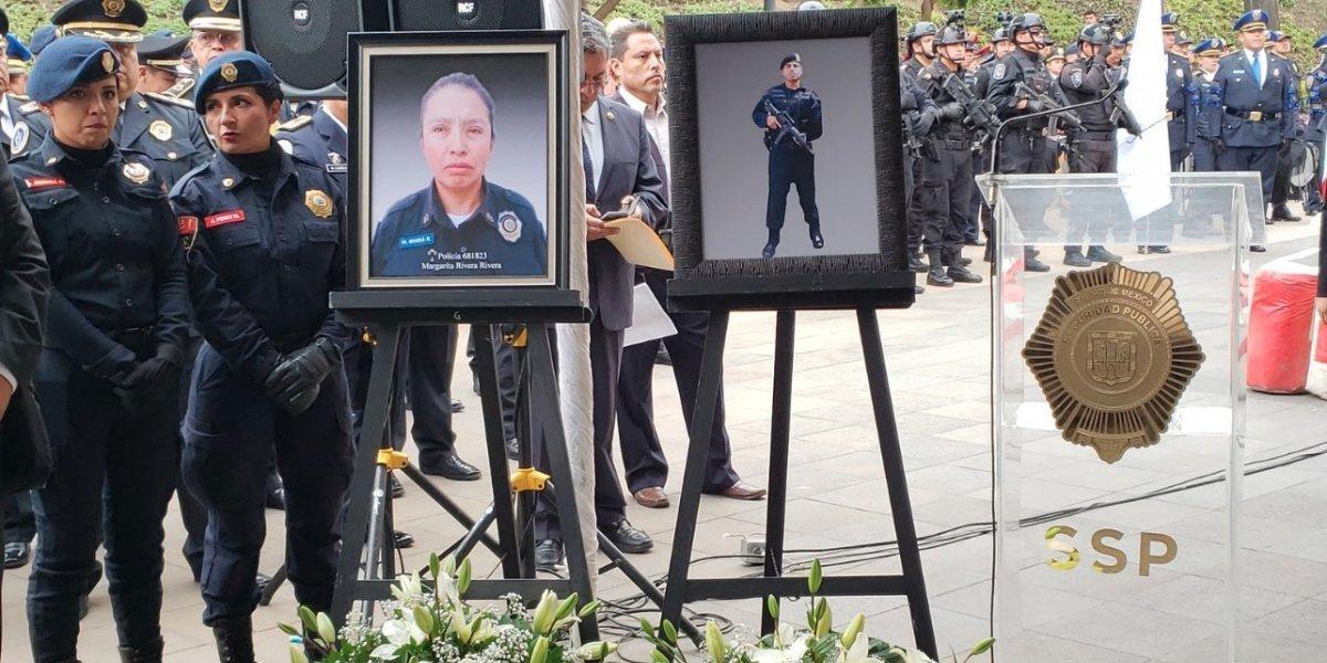 Despiden con gran cortejo a Margarita e Iván, policías asesinados este fin de semana en Iztapalapa
