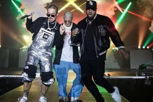 J Balvin, Bad Bunny y Nicky Jam