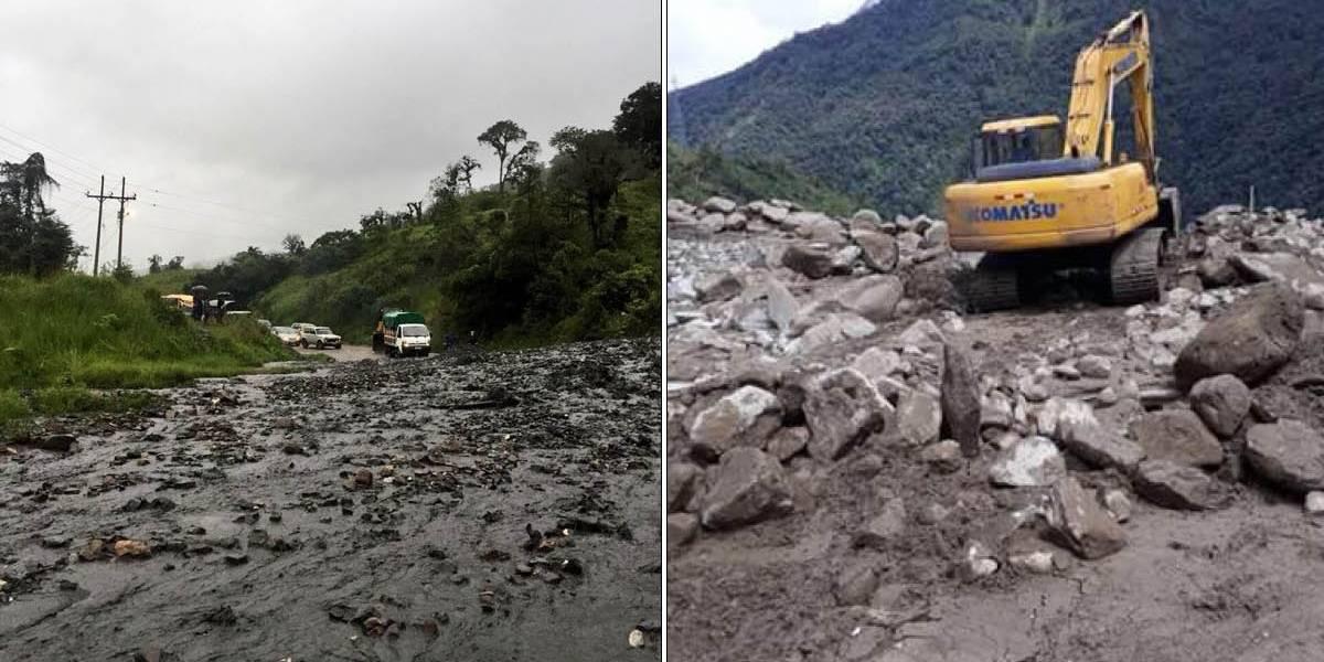 Vías cerradas en Ecuador por deslizamientos de tierra