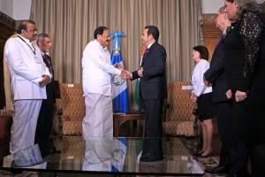 presidente Jimmy Morales se reúne con vicepresidente de India