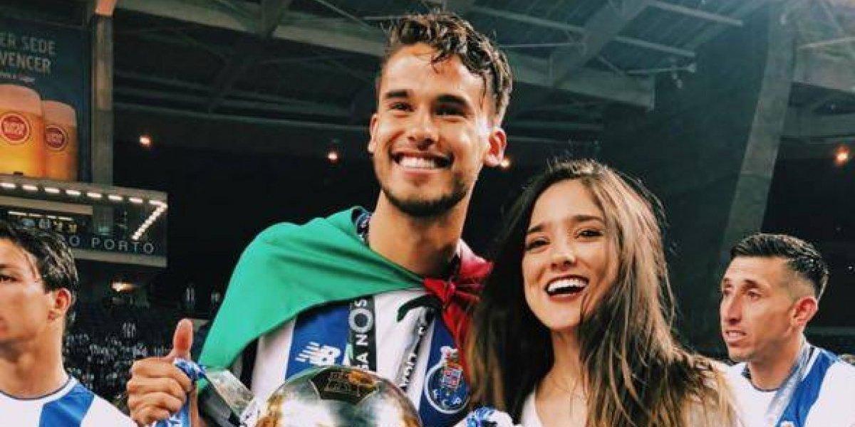 Viviana Serna apoyó a su novio Diego Reyes en la celebración con el Porto