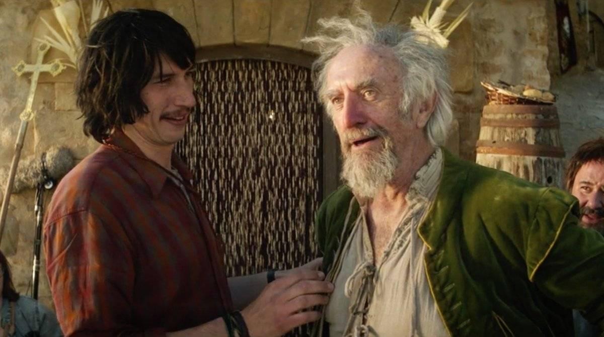'O Homem que Matou d. Quixote', de Terry Gillian. Após 20 anos, o ex-Monty Python mostra seu longa no qual Adam Driver vive um publicitário tragado para um universo de sonho quando o personagem de Jonathan Pryce o vê como Sancho Pança / Divulgação