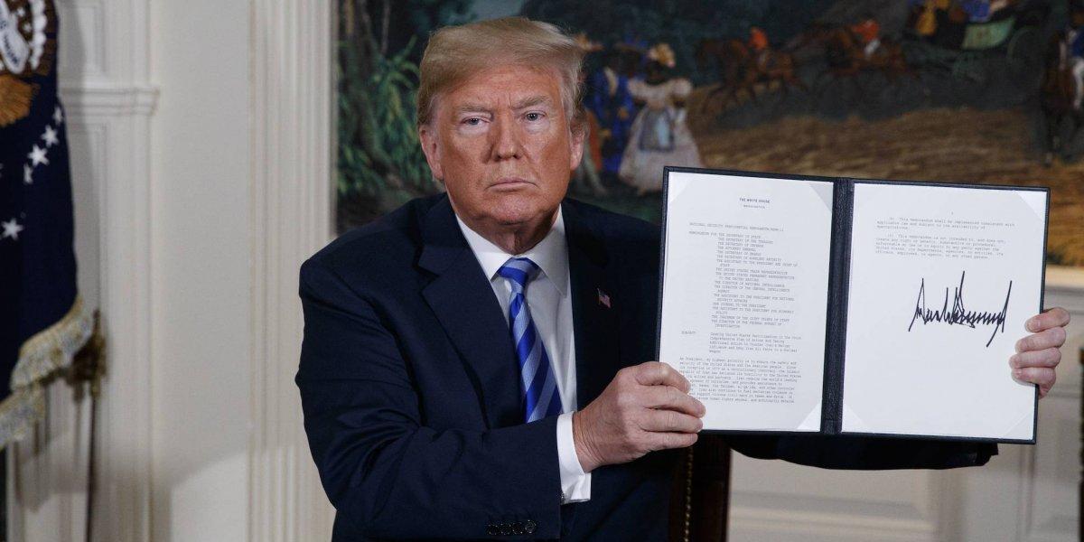 El mundo reacciona a la salida de Donald Trump de acuerdo nuclear con Irán