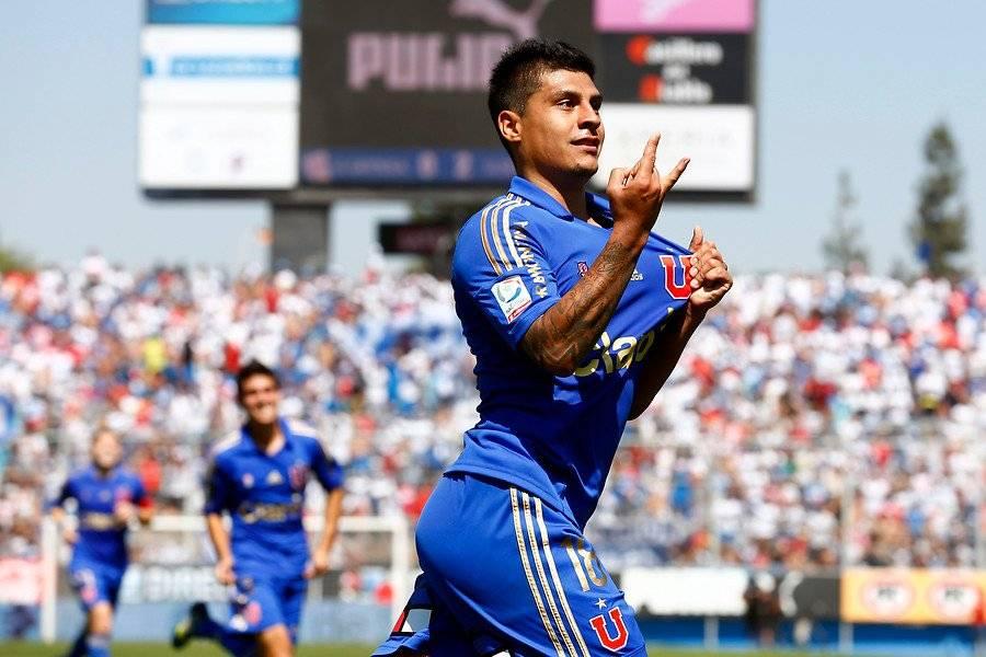 El Pato Rubio le marcó dos goles a la UC en San Carlos el 23 de marzo de 2014 / Foto: Agencia UNO