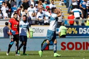 El Pájaro Gutiérrez anotó sus últimos dos goles como jugador de la UC el 29 de abril de 2017 / Foto: Agencia UNO
