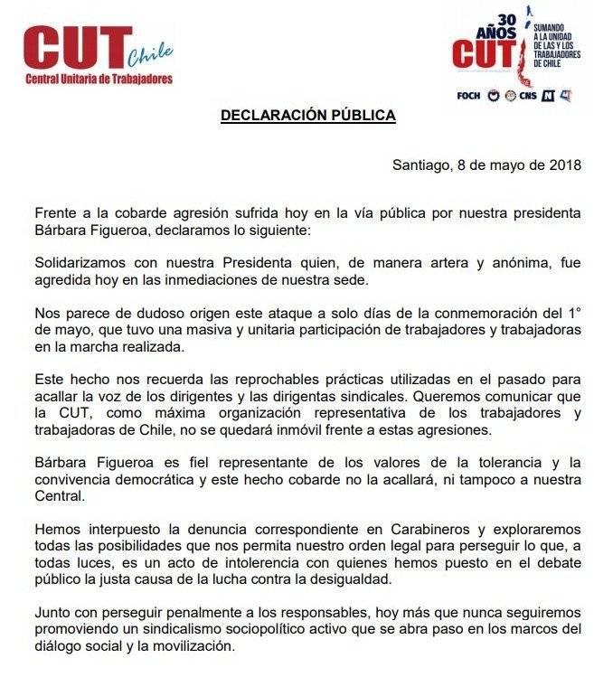 Condenan agresión a Bárbara Figueroa
