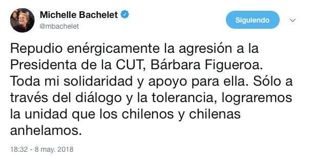 Rechazo Bachelet