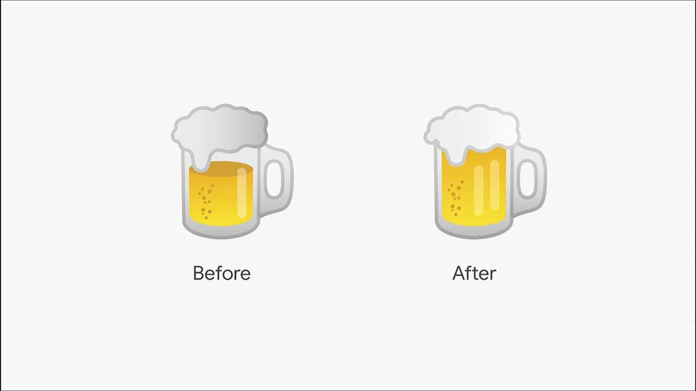 Sundar Pichai presenta los nuevos emojis de hamburguesa y cerveza