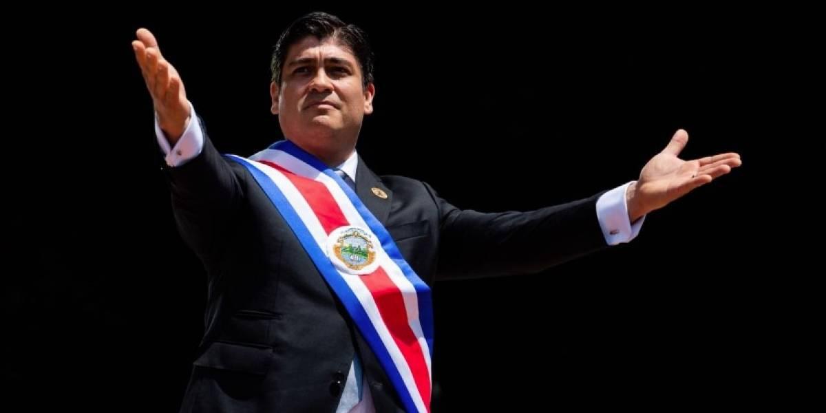 VIDEO. Carlos Alvarado recibe la banda presidencial de Costa Rica