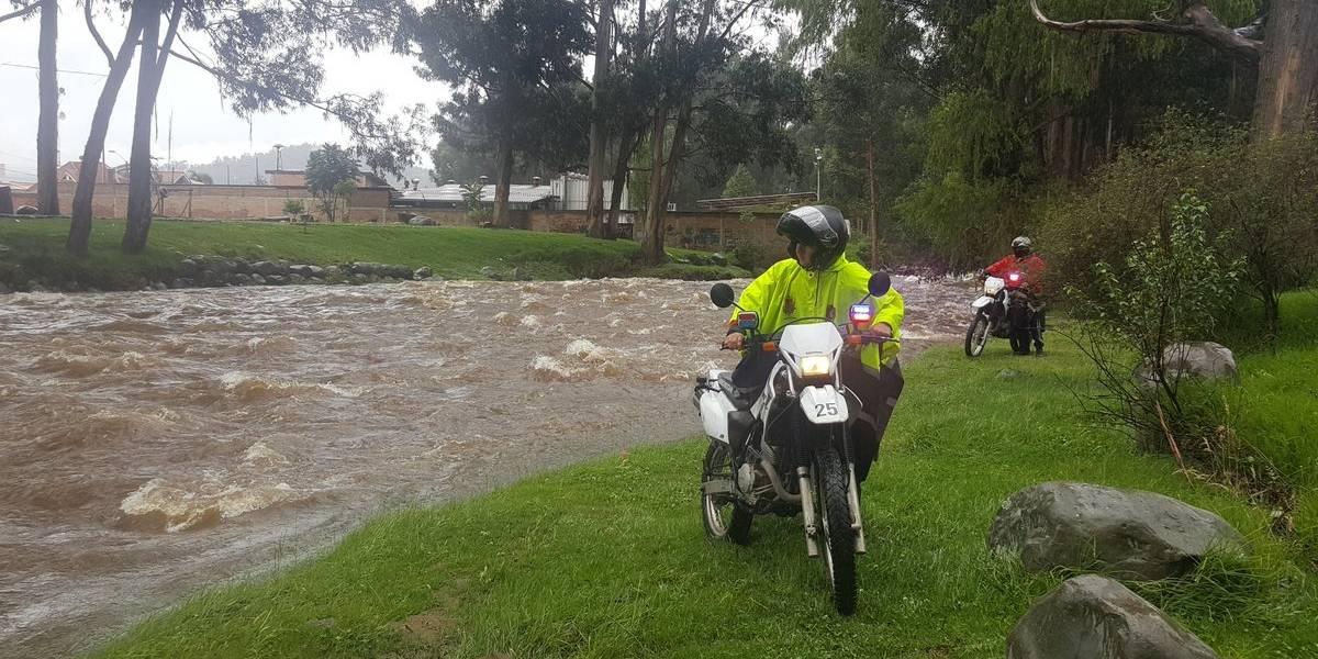Ríos incrementaron su caudal en Cuenca