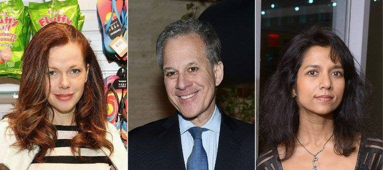 Michelle Manning Barish, Eric Schneiderman y Tanya Selvaratnam