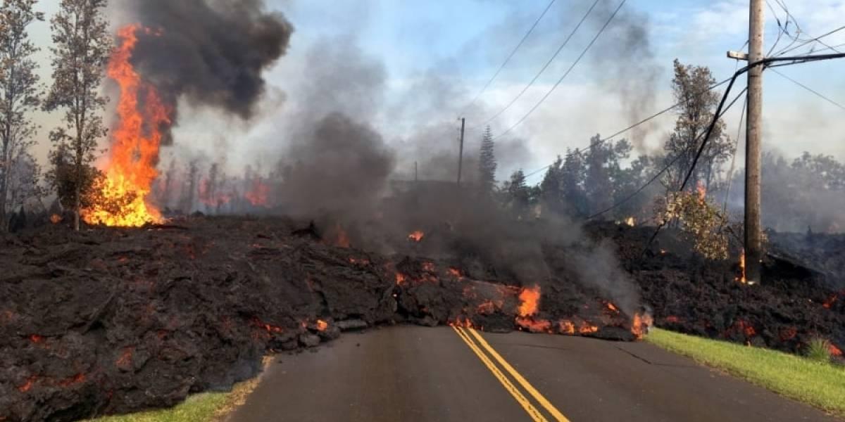Erupção de vulcão no Havaí cobre as ruas de lava e deixa imagens chocantes