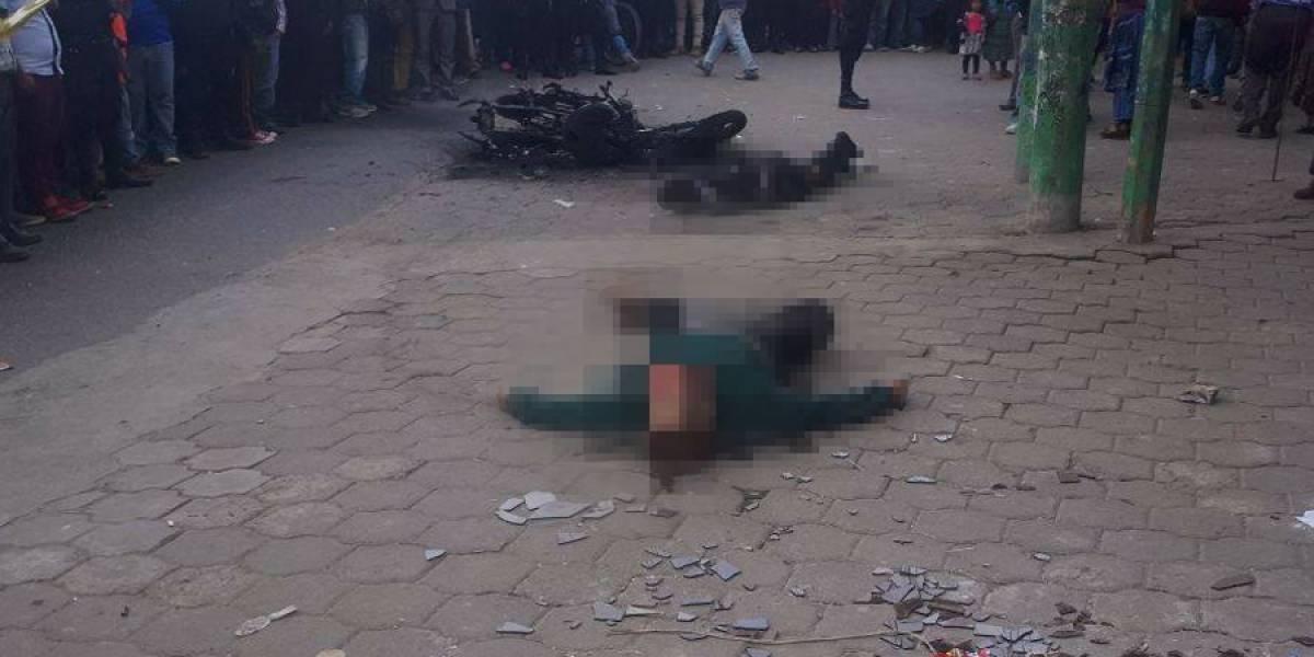 VIDEO. Dos presuntos asaltantes mueren linchados y quemados en aldea de Momostenango
