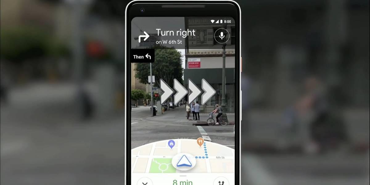 Google Maps pronto dará indicaciones mediante Realidad Aumentada