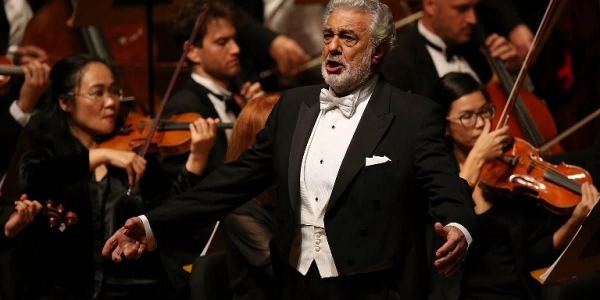 Plácido Domingo, Mario Chang y María José Morales en concierto